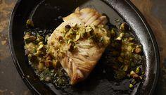 Pan Roasted Wild Alaska Black Cod with Preserved Lemon Sauce and Pistachio Picada by Chef Thom Fox | Wild Alaska Seafood