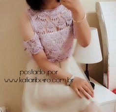 Katia Ribeiro Moda e Decoração Handmade : Ciganinha em Crochê Ponto Rendado