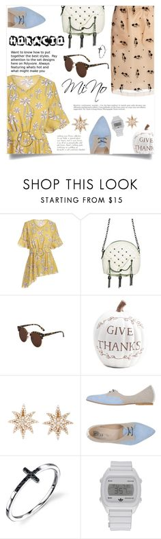 """""""Énergie De Vie"""" by violet-peach ❤ liked on Polyvore featuring Ebarrito, adidas, N°21 and Anja"""