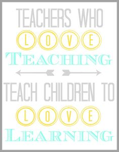 Printable Teacher Appreciation Quote from Blissful Roots