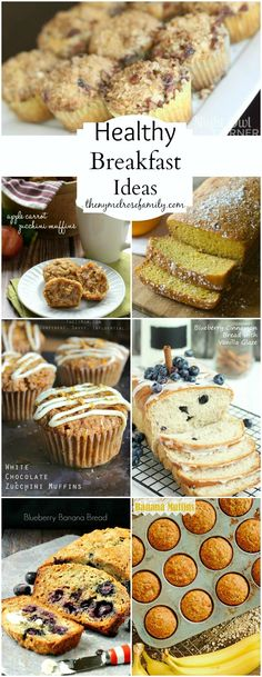 Healthy Breakfast Ideas www.thenymelrosef... #healthy #breakfast #muffins #breads