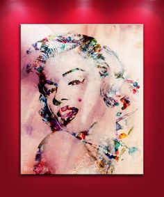 MARILYN MONROE FRAMED 30x 20 Original Art Canvas by BoxColors, $59.00 - MUST HAVE THiS