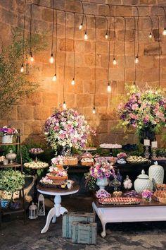 decoração de casamento mesa de doces