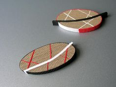 ANNE FINLAY-UK- Corrugated Cardboard Brooch