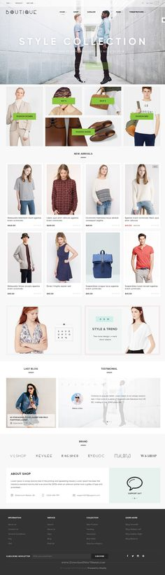 ST Boutique is a tidy and responsive Shopify theme suitable for any kind of boutique, #clothes store, Fashion #Shop, makeup products or similar #websites. Download Now!