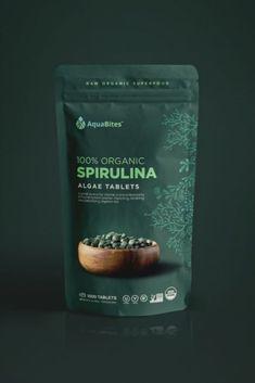 Design packaging for healthy algae brand Sugar Packaging, Spices Packaging, Organic Packaging, Fruit Packaging, Pouch Packaging, Food Packaging Design, Coffee Packaging, Packaging Design Inspiration, Brand Packaging