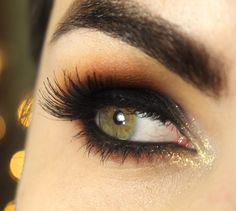 Tutorial – maquiagem com olho preto esfumado de verão