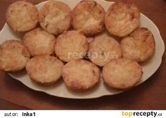Muffiny se sýrem a anglickou slaninou recept - TopRecepty.cz Russian Recipes, Pizza, Snack Recipes, Food And Drink, Chips, Appetizers, Cupcakes, Cookies, Baking