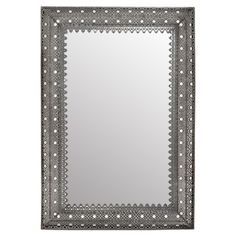 Featuring a filigreed frame and silver finish, this lovely mirror adds shimmering appeal to your entryway or powder room.  Product: ...