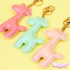 Pastel Giraffe Keychain Charm