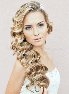 hair+down+wedding+hairstyles,+wedding+hairstyles+for+long+hair+-+hair+down+wavy+wedding+hairstyle