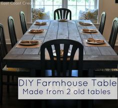 Make your own Farmhouse Table (The Easy Way!)