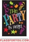 Applique - The Party Is Here Garden Flag