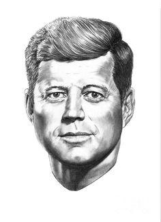 President John F. Kennedy Drawing by: Murphy Elliott Plant City, Florida