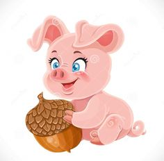 Pig with acorn