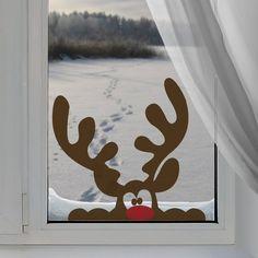 Christmas Window Decorations, Christmas Lights, Christmas Crafts, Christmas Ideas, Christmas Windows, Christmas Christmas, Window Stickers, Wall Stickers, 242