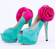 amazing Gorgeous Flower Satin Peep-toe Heels Click to see this Great Deal! http://elegantshoegirl.com/product/gorgeous-flower-satin-peep-toe-heels/