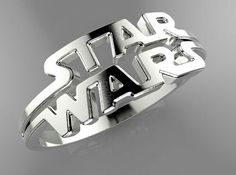 Star Wars Ring Anyone who knows my love of Star Wars, silver and who has seen the 26 silver rings I wear on y fingers knows I NEED THIS RING! Star Wars Ring, Star Wars Love, Star War 3, Star Wars Jewelry, Geek Jewelry, Fandom Jewelry, Star Wars Gifts, Battlestar Galactica, Love Stars