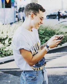Trendy Ideas For Fitness Wear Man Guys 90s Fashion, Vintage Fashion, Fashion Outfits, Men Looks, Moda Indie, Olly Alexander, Workout Wear, Summer Outfits, Street Wear