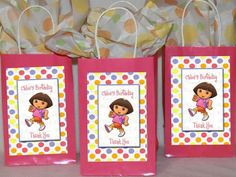 Dora party bags kids Pinterest Party bags and Birthday party