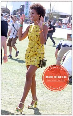 #dresscolorfully solange at coachella
