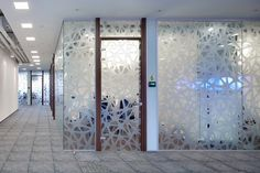 Frosted design on conference room Office Interior Design, Interior Exterior, Office Interiors, Glass Sticker Design, Glass Design, Glass Partition Designs, Sand Glass, Window Graphics, Window Films