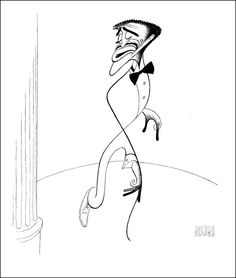 SAMMY ON STAGE Hand Signed by Al Hirschfeld, Limited Edition, Sammy Davis, Jr.