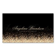 Shimmering Gold Cosmetologist Damask Black Card Business Card Template. This great business card design is available for customization. All text style, colors, sizes can be modified to fit your needs. Just click the image to learn more!