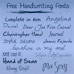 Cute Cursive Fonts - Bing Images