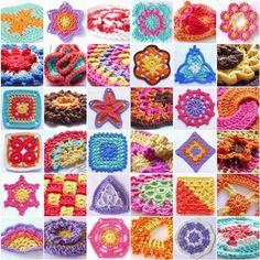 LINDEVROUWSWEB: 144 Crochet Motifs