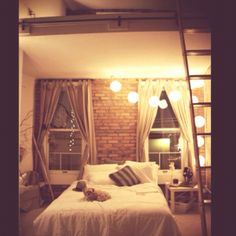 Cozy New York City Loft. - Bedroom Designs - Decorating Ideas - HGTV Rate My Space - Decoration for House Bedroom Loft, Cozy Bedroom, Dream Bedroom, Bedroom Decor, Bedroom Ideas, Spa Bedroom, Trendy Bedroom, Bedroom Inspiration, Girls Bedroom