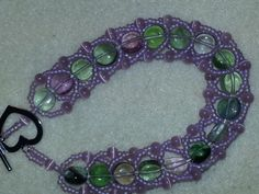 Spiral rope (pattern from GJ beads) using beads from stash