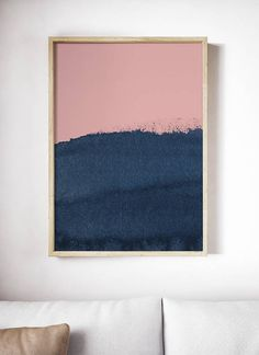 Blush Pink and Blue Print. Blue and pink art. Watercolor Artwork, Watercolor Print, Abstract Canvas, Canvas Art, Surfboard Painting, Modern Art Deco, Pink Art, Pretty Art, My New Room