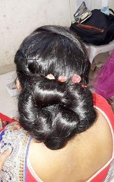 Bun Hairstyles For Long Hair, Braids For Long Hair, Braided Hairstyles, Indian Long Hair Braid, Bridal Hair Buns, Big Bun, Bun Updo, Beautiful Braids, Amazing Hair