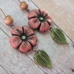 Pink Desert Rose Earrings by Dandy Beads, via Flickr