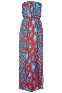 Pink Leopard Panel Maxi - Beach Cover Ups - Swimwear  - Clothing £30