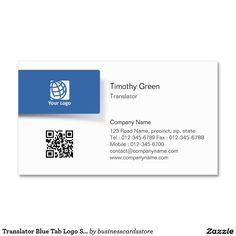 Simple talk bubbles translator business card interpreter business translator blue tab logo simple business card colourmoves