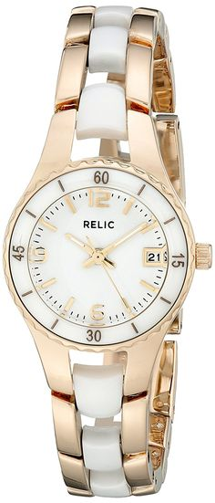 Relic by Fossil Women's Analog Display Analog Quartz Gold Watch Relic Watches, Watch Bands, Charlotte, Quartz, Image Link, Accessories, Jewelry, Note, Amazon