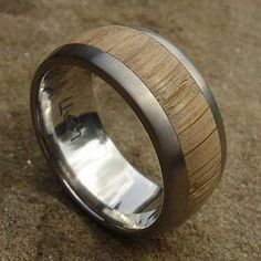 Wide Titanium & Wooden Wedding Ring | LOVE2HAVE in the UK! Wood Inlay Rings, Wooden Rings, Titanium Wedding Rings, About Uk, Precious Metals, Jewelry Rings, Rings For Men, Jewelry Making, Silver