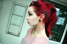 tumblr black and red hair - Google Search