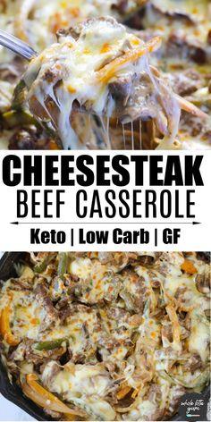 Philly Cheese Steak Casserole (Keto, GF)