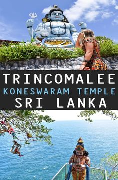 Koneswaram Temple is a Hindu Temple dedicated to Lord Shiva located in Trincomalee, Eastern Sri Lanka. How to get to the Koneswaram Temple Bucket List Destinations, Travel Destinations, All Over The World, Around The Worlds, Country Maps, Travel Guides, Travel Tips, Go Outdoors, Worldwide Travel