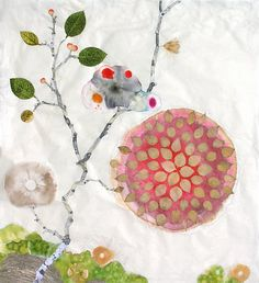 Marilla Palmer, Rose Mandala 2012, Mixed media on handmade paper
