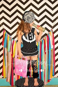 92c6c3fc2b3c91 BLACK AND WHITE POLKA DOT SWIMSUIT AND HAT Cool Kids Clothes