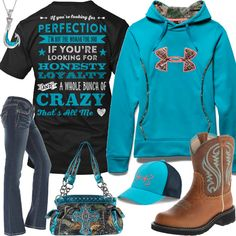 If You're Looking For Perfection, I'm Not The Woman For You Outfit - Real Country Ladies Camo Girl Outfits, Cowgirl Outfit For Girl, Rodeo Outfits, Cowboy Outfits, Teenage Girl Outfits, Funny Outfits, Teenager Outfits, Cute Casual Outfits, Western Outfits