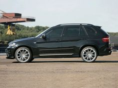 BMW X5 Black Side Wallpapers HD