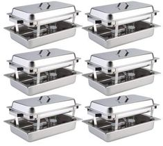 Boban 6 Pack Catering Chafing Dish Sets Stainless Steel Buffet Catering Food Warmer