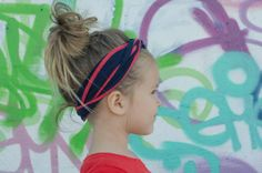 Patriotic, Striped Turban Style Headband by LucillePaige
