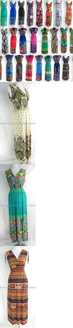 Dresses 50986: Wholesale Lot Of 10 Long Dress Maxi Sundress Beach Bohemian Clothes Women Summer -> BUY IT NOW ONLY: $88.63 on eBay!