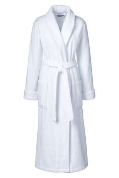 Women's Turkish Terry Robe from Lands' End $65 (JUST LOOKING FOR A REALLY SOFT LONG ROBE TO LOUNGE IN!)